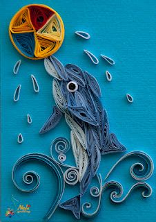 A quilled Dolphin playing in the water by: neli