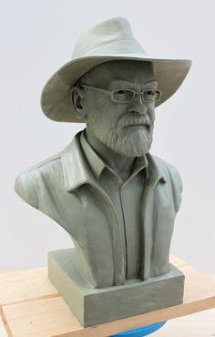 Sir Terry Pratchett Memorial Bust