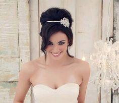 Crystal Headband, Wedding Headband, Rhinestone Headband, Wedding Hairpiece, Bridal Headpiece, Crystal Headpiece, Bride Headband - ABBEY on Etsy, $68.00
