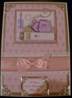 A4 Christening Card Christening Card, Personalised Cards, Handmade Baby, Baby Cards, Quilling, A4, Paper Crafts, Babies, Frame
