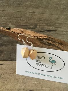 Earrings - HBF 'Bois' Flamingo, Place Card Holders, Cards, Woodwind Instrument, Flamingos, Greater Flamingo, Maps
