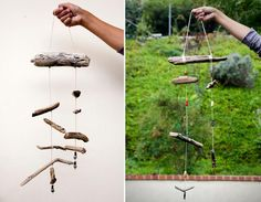 #DIY Driftwood Mobile : DIY Wood Crafts Recycle