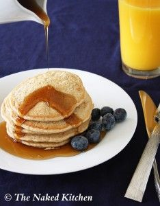 Whole Grain Pancakes - I made these today.  Replaced one egg with 1 T chia seeds and 3 T water and used all WW pastry flour.  Added about 1/2 t baking powder after cooking the 1st one because I like a fluffier pancake.  There were great.  The kids loved them.