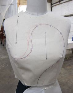 Draping technique - need the straight grain for this one.