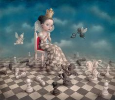 For Your Eyes Only by pop surrealism artist Nicoletta Ceccoli | Size of paper: 51.2 cm x 48.6 cm Size of art: 38.4 cm x 43.7 cm | Edition size: 100 + 10APs Medium: Giclee on Paper | € 300.00 Acquire Giclée