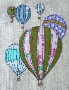 love this patchwork embroidery by Laura Nathan. very simple and very effective: