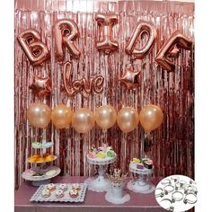 There are plenty of fun bachelorette party ideas that you can implement into your bash. Pink Bachelorette Party, Bachelorette Party Supplies, Engagement Party Decorations, Bachelorette Party Decorations, Bridal Shower Decorations, Gold Bridal Showers, Bridal Shower Party, Love Ballons, Lingerie Rosa
