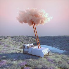 Inspired by the Itsukushima Shrine in Japan, the multidisciplinary designer Yomagick created a series of dreamlands. Between floating clouds and a pastel sky Foto Fantasy, Design Graphique, Surreal Art, Pink Aesthetic, Aesthetic Pictures, Wall Collage, Beautiful Landscapes, Aesthetic Wallpapers, Clouds