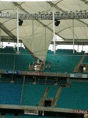 Arena Fonte Nova's roof partly collapsed