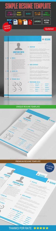 Resume Bundle Resume templates, Resume and Photoshop - psd resume templates