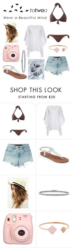 """""""Beachhh"""" by shainarebello ❤ liked on Polyvore featuring Ghost, T By Alexander Wang, Apt. 9, LULUS, BERRICLE, Polaroid and Michael Kors"""