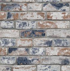 Distressed Brick Navy - Sample