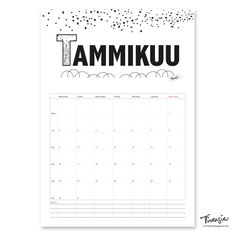 Ilmainen tulostettava tammikuun  2017 seinäkalenteri #ilmainen#tulostettava #kalenteri #2017 #tammikuu #free #print#calendar #january