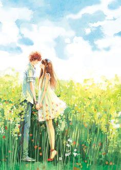 ❤٩(๑•◡-๑)۶❤                                                       Zerochan, Daisy artist, Couple, Anime, Love
