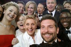 """""""Selfie"""" de Ellen DeGeneres no Oscar é avaliada em um bilhão de dólares"""