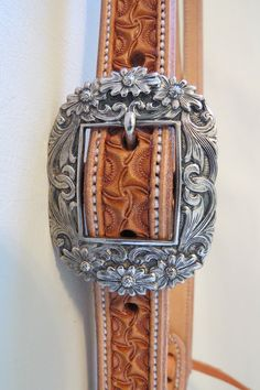 "Item 007669 - New Handmade BRANDON BLEVINS 1"" Natural Headstall ROCKIN OUT Buckle - Must Fish Western Tackle - Picasa Web Albums"