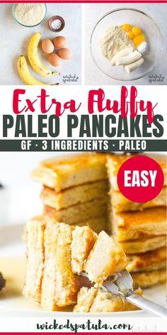 Fluffy Paleo Banana Pancakes Recipe With Almond Flour Fluffy Paleo Banana Pancakes – This healthy paleo banana pancakes recipe makes delicious and FLUFFY banana pancakes every time! Almond flour banana pancakes are the perfect healthy breakfast. Paleo Banana Pancake Recipe, Paleo Pancakes Almond Flour, Almond Flour Recipes, Banana Recipes, Paleo Flour, Pancake Recipes, Paleo Smoothie Recipes, Paleo Recipes Easy, Paleo Lemon Bars