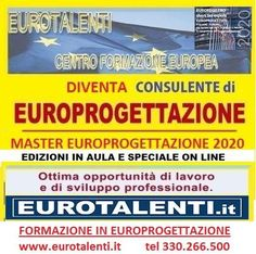 #Europrogettazione #LAVORA SUBITO