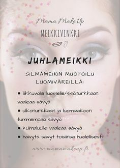 Silmämeikin muotoilu luomiväreillä Make Up, Personal Care, Eyes, Beauty, Self Care, Personal Hygiene, Makeup, Beauty Makeup, Beauty Illustration