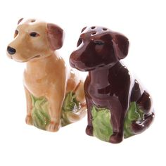 Lisa Parker LABRADOR Dog Salt & Pepper Pots Cruet Set