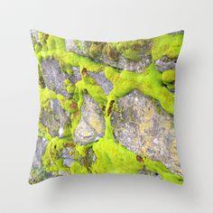 Moss Throw Pillow by Post Haste Art - $20.00