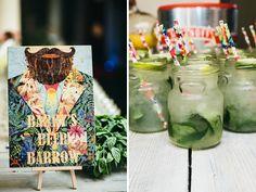 wedding design,mojito jars, 2017 wedding table decoration, diy trends for 2017, rustic trend,rustic jars