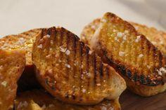 Bruschetta Recipe by Giada De Laurentiis Giada Recipes, Spinach Recipes, Giada De Laurentiis, Bruschetta Recipe Giada, Tofu, Spinach Health Benefits, Best Selling Cookbooks, Grilled Bread, Recipe Sites
