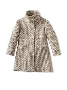 81% OFF Sarabanda Girl\'s Tweed Coat (turtle)