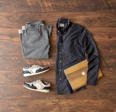 """Mens Street Fashions Ideas στο Instagram: """"💥Which one would you wear ? 1,2,3,4,5 or 6? Double tab if you love this outfit💥 . 📷 by…"""" Smart Casual Menswear, Men Casual, Men Wearing Dresses, Outfit Grid, Grey Outfit, Men Style Tips, Beard Styles For Men, Grey Shirt, Men Looks"""