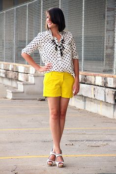 citron and dots, via What I Wore