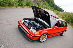 Honda Civic Hatchback Gen 4 Custom  #Honda #HondaCivic #HondaCars