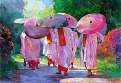 Myoe Win Aung. Современная восточная акварель