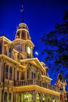 City Hall on Main Street, USA in the Magic Kingdom, Walt Disney World, Florida