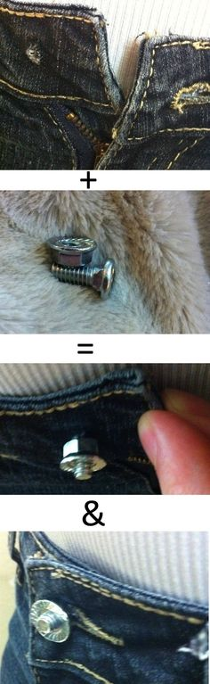 Quick and Cheap fix for a busted jean button