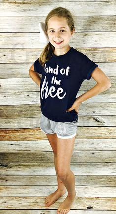 Girls 4th of July Tshirt, 4th of July T-shirt, Monogrammed Tshirt, Patriotic T-shirt,4th of July Shirt, America Tshirt, Merica Tshirt by creationsforeleanor on Etsy