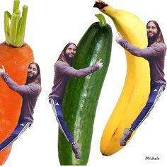 """Pin for Later: 19 Amazing Jared """"Huggin"""" Leto Memes Jared Hugging Vegetables Source: Instagram user letostagram"""