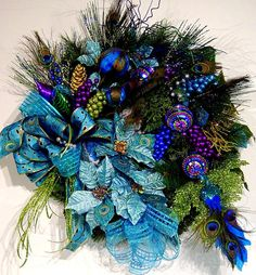 door Wreath Peacock Treasure Christmas Holiday ExQuisiTe have matching ...570 x 615173.5KBwww.etsy.com