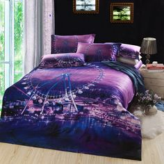 3d noble unicorn design100% cotton bedding sets animal print