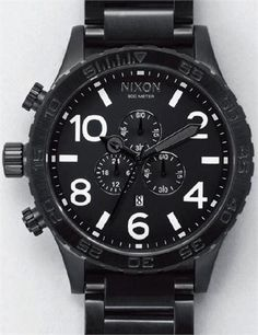 9c609d1b78 Nixon 51-30 Chrono All Black Chronograph Watch Man Jewelry