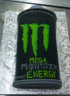 Monster Energy Drink Cake