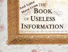 SCRAPS OF USELESS INFORMATION. Our mind is full of useless information. Scraps of memories that no longer mean anything at all continue to be consciously supported because our mind was created to hold everything within its natural ability to reason and understand. In our world this amounts to everything we have learned to believe in........................... http://www.themiraclealchemist.com/scraps-of-useless-information