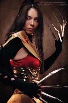 Lana Marie (Me) as Lady Deathstrike (Warrior) of Marvel Comics / Xmen Costume Made by : Me Model: Me Photographer: Digital Asylum / Michael ---- FaceBoo. Joker Cosplay, Male Cosplay, Best Cosplay, Lady Deathstrike, Model Mayhem, X Men, Marvel Comics, Concept Art, Wonder Woman