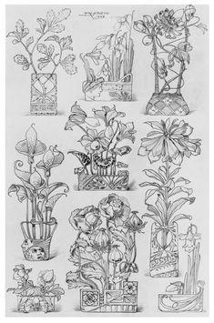 70 Ideas art nouveau pattern design dover publications for 2019 Motifs Art Nouveau, Art Nouveau Flowers, Art Nouveau Pattern, Art Nouveau Design, Design Art, Art Nouveau Tattoo, Tattoo Art, Tableaux Vivants, Art Nouveau Illustration