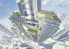 MAGNETIC ELEVATOR MOVES SIDEWAYS but never keeps you waiting l Thyssen Krupp's glass elevators could give developers up to 40 per cent more useable floor space in high rises