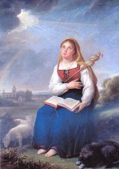 St. Genevieve saved her town from the Huns and committed her life to God at age seven.