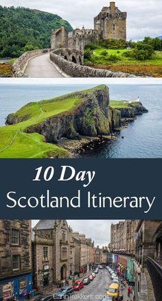 10 Day Scotland Itinerary: Edinburgh, Isle of Skye, Glencoe, Loch Ness, Glasgow, Scotland road trip