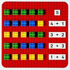 de gefä… Here you can see a game idea from LEGO® Duplo, which we like from BRICKaddict.de: A LEGO® Duplo addition board for learning the 1 + Montessori Math, Homeschool Kindergarten, Preschool Learning, Teaching Math, Maria Montessori, Montessori Education, Lego Math, Lego Duplo, Math For Kids