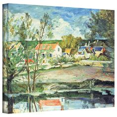 Camille Pissarro 'The Cottage' Canvas Art | Overstock.com Shopping - The Best Deals on Gallery Wrapped Canvas