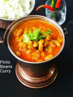 Pinto Beans Curry {New Post} Pinto beans curry made from freshly shelled pinto beans and cooked with onions, garlic, tomatoes and coriander leaves and flavored with indian spices. Today's #recipe is one pot pressure cooked fresh kidney beans recipe. .  Pinto Beans (Phaseolus vulgaris) also known as Chitra #Rajma (Chitri-waale Rajma), Printed Rajma. Pinto beans are attractive beige colored and speckl #pintobeans #indianrecipes #indianfood #foodblogger #vegetarian #vegetarianrecipes #veganfood