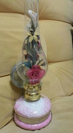 Jar Crafts, Felt Crafts, Diy And Crafts, Flower Designs, Projects To Try, Perfume Bottles, Cross Stitch, Crochet, Flowers